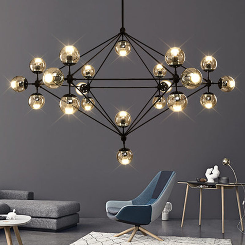 Buy 21 Heads Modern Glass Chandeliers MODO Chandelier Dropli