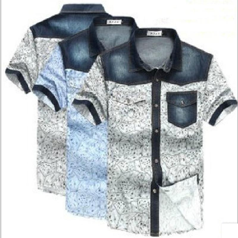 6XL Shirt Brand Jeans Men Shirt Blue and White Casual-Shirt Fashion High Quality Denim Shirt Men 3 Colors Free ShippingОдежда и ак�е��уары<br><br><br>Aliexpress