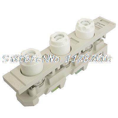 AC 500V 20 Amps Fuse Link + E27 Triple Pole Ceramic Screw Type Base<br><br>Aliexpress