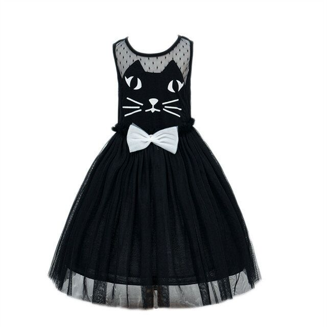 Free shipping,Hot sale 2016 child kitty dress party dress for 3 years old to 8 years old(China (Mainland))