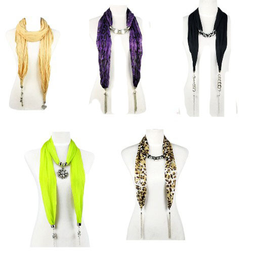 Jewelry beads scarf with accessory drops ending ,5 styles available,5pcs a lot,each 1pcs,NL-1059(China (Mainland))