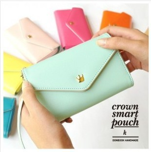 Free shipping 10pc/lot 2013 new Crown donbook multi feature phone bag card bag  purse BG051<br><br>Aliexpress