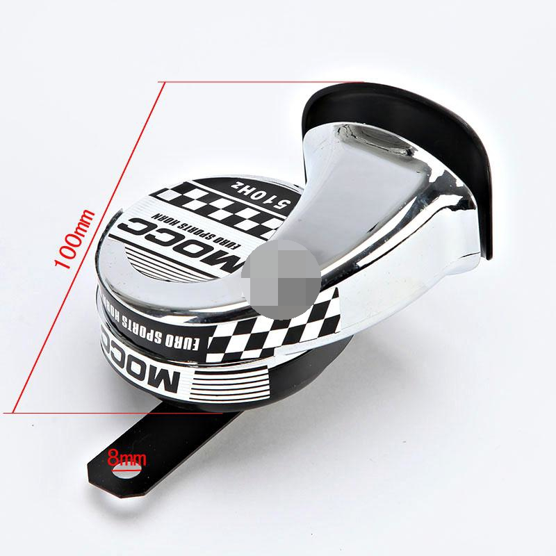 Chrome Motorcycle Horn 510Hz Scooter Moped ATV Go-Kart Vespa Dirt Pocket Bike(China (Mainland))
