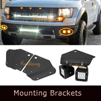 2X LED Work Light Bar Bumper Holder Mounting Brackets Driving Work Lamp Holder Kit For Ford F-150 Raptor