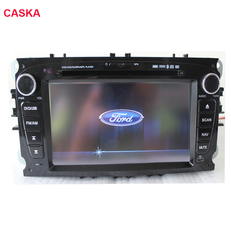 Free Map!Caska Original 2 Din 7 Inch Car DVD Player For FORD/Mondeo/S-MAX/C-MAX/Galaxy/for FOCUS 2 2008-2011 Radio GPS BT Ipod(China (Mainland))