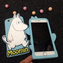 Lovely 3D Cute Japan Cartoon Moomin Hippo Horse Animal Silicon Back Cover Case For iPhone 5 5s se 6 6s 6plus 4.7″ 5.5″ capa para