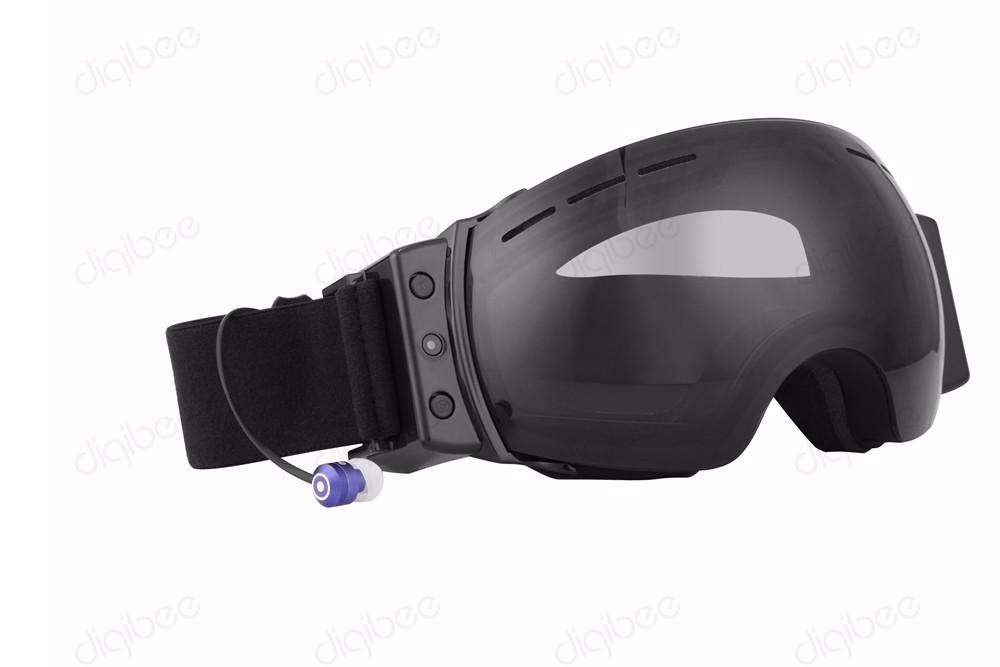2017 New Outdoor Sport DV HD 720P Anti UV Anti-Fog Snow Ski Skiing Goggles Smart Glasses Camera Sunglasses Bluetooth Headset