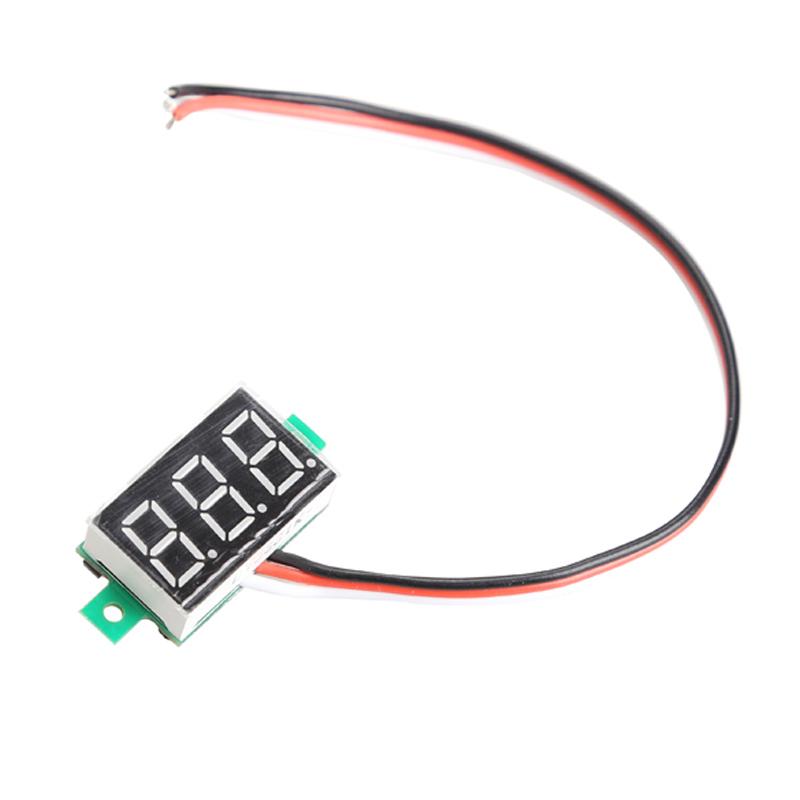 Practial Mini Digital Voltmeter DC0 100V Green Light LED Panel Voltage Meter New H1E1