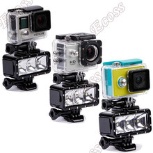 For Gopro flash light Underwater 30m diving Led Flash Fill Light Night Light For Gopro Hero 4 3+ 3 Session xiaomi yi accessories