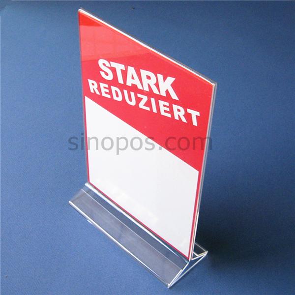 Acrylic Sign Holder Plastic Poster Display Racks Acrylic