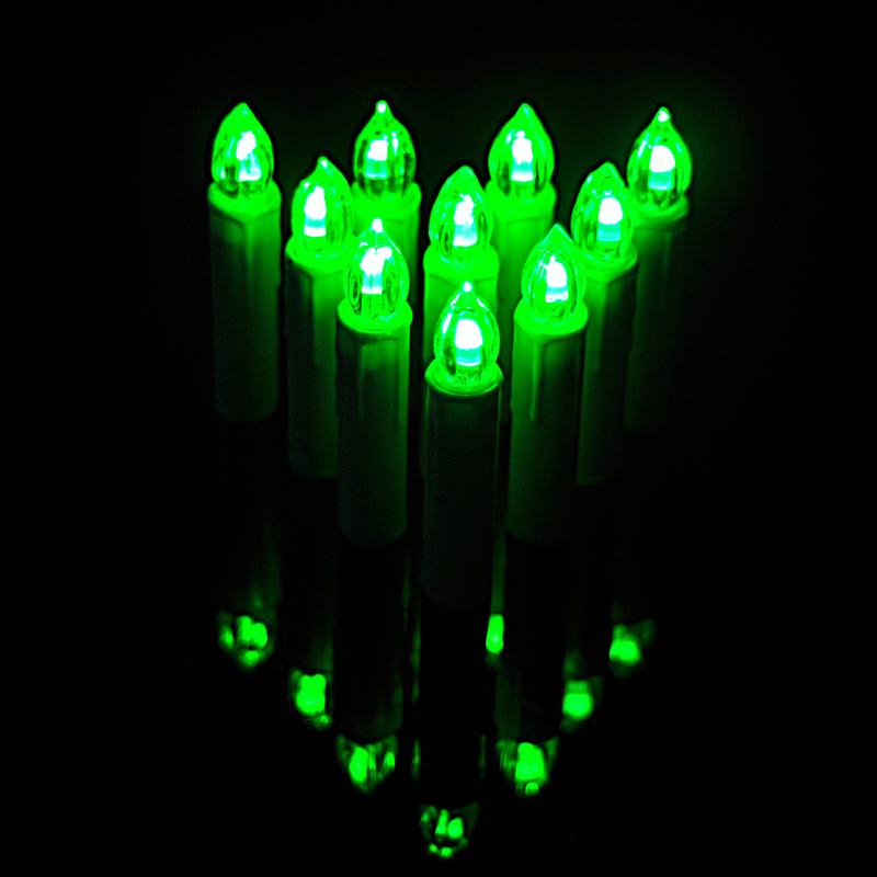 10 Pcs Remote Control 7 Colors Christmas Tree Led Candle