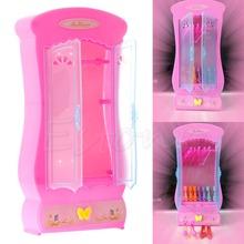 1Pc Pink Closet Wardrobe For Doll Girls Toy Princess Bedroom Furniture(China (Mainland))