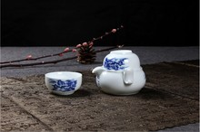 Ceramic kung fu tea cup Quik Travel Mini Easy Set personal office pot twenty-two Cup