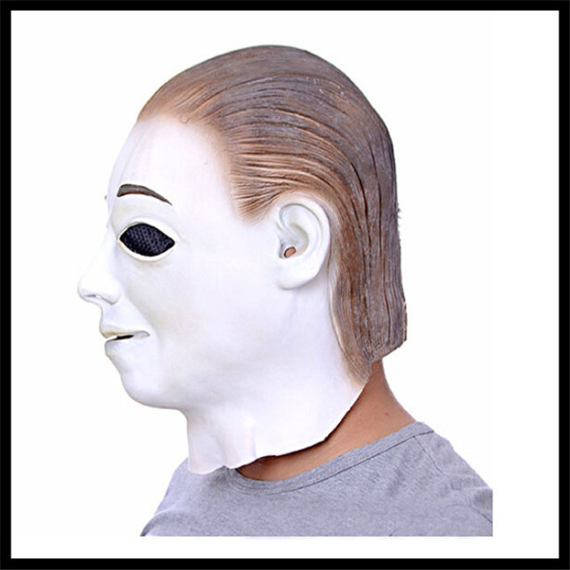 Latex Scary Michael Myers Mask Halloween & Party Cosplay White Face Head Movies Mask