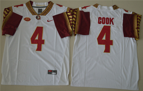 New Arrival High Quality Nike Florida State Seminoles Dalvin Cook 4 College Jersey - White Size M,L,XL,XXL,3XL(China (Mainland))