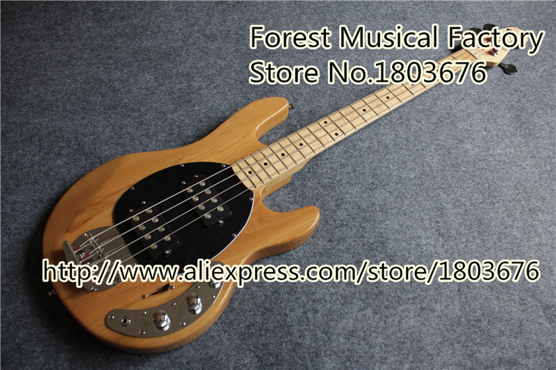 Hot Selling China Natural Wood Finish Music man Musicman Bass Guitar 5 Strings In Stock For Sale(China (Mainland))