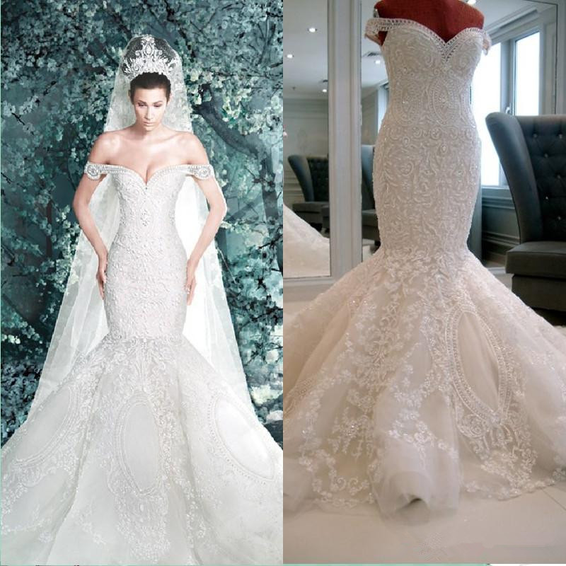 2016 new michael cinco backless garden mermaid off for Aliexpress mermaid wedding dresses