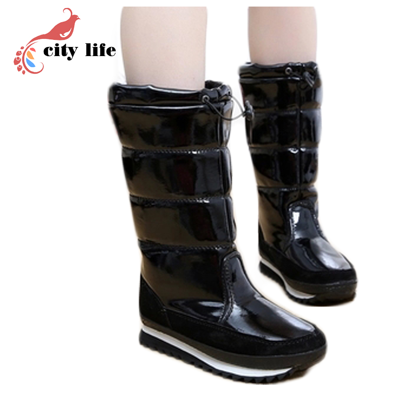 Fashion Winter Warm Flat Heels Solid Snow Boots Ski Boots Wholesale Pink Blue White Snowboots Pu Moon Boots(China (Mainland))