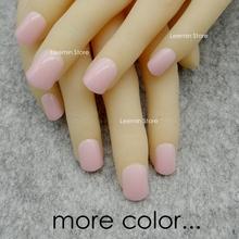 2015 color  false nail , squre  false nail  24 pcs/ set red pink black etc for daily use