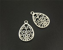 Buy 10pcs Antique Sliver Filigree Pattern Water Drop Shape Charm Fit Bracelets Necklance DIY Metal Jewelry Making 16x25mm A1518 for $1.10 in AliExpress store