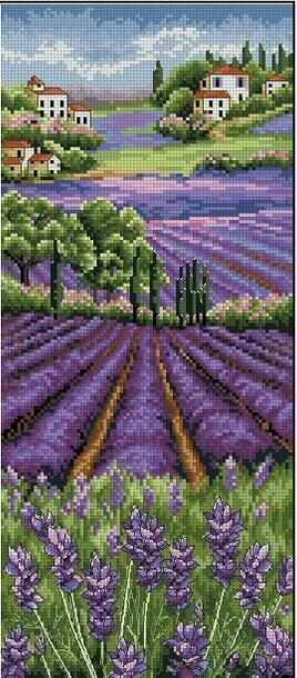 JCS Lavender champaign,Counted canvas DMC 14CT 16CT 18CT Cross Stitch kit,needlework Set DIY embroidery,Flowers Garden Scenery(China (Mainland))