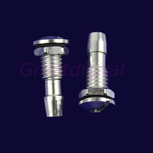 Free Shipping 2 Pcs Aluminum Water Outlets Thread With O-ring Screws For RC Boat M6 New(China (Mainland))