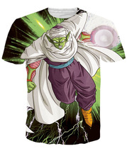 Piccolo Summer 3D Print T shirt  Casual Classic Anime Dragon Ball Z Cotton T-shirts Roshi Short Sleeve Homme Loose Tops DBZ