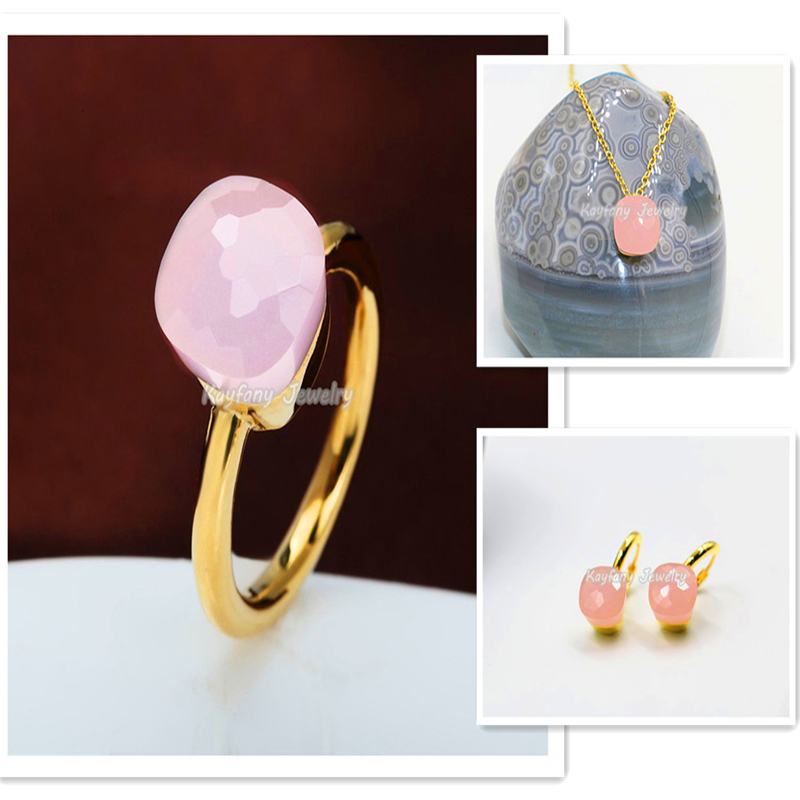 Fashion Fine Gem Pomellato 18K Gold Luxus Pink Crystal For Women Vintage Rings Of Wedding Christmas Bijoux Bagues Femme<br><br>Aliexpress