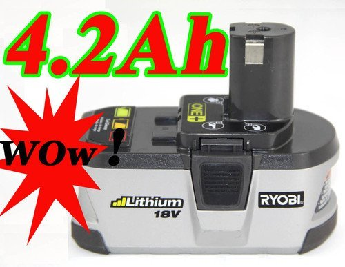 Ryobi 18V 4200mAh Lithium Battery ONE+ for power tool