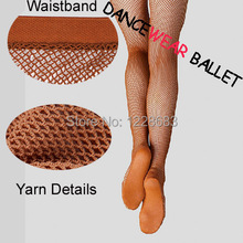 Wholesale Discount High Quality Hard Joined Yarn Toffee And Black Women Spandex Ballroom Professional Latin Fishnet Dance Tights(China (Mainland))