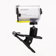 2015 New Multi-function Sping Clamp Clip with Ball Socket Head mount for Sony Action Cam HDR-AS100V AS30V AS200V HDR-AZ1 X1000V