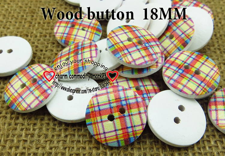 wholesale (100pcs/lot) color squares wooden buttons for baby hat 18MM MCB-746-1(China (Mainland))