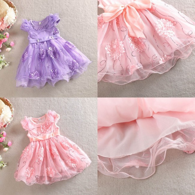 EMS DHL Free shipping2015 New princess girl 2015 new summer flower Sequin princess dress for girl clothes children clothing kids<br><br>Aliexpress