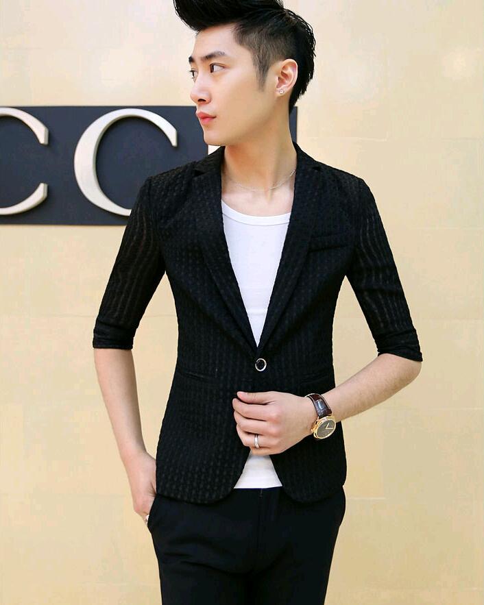 Short Sleeve Blazer Suit