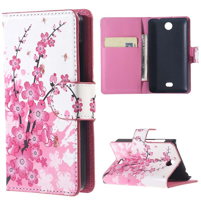 Plum Magnetic PU Leather Walet Stand Case Cover For Flip Microsoft Nokia lumia 430 Mobile Phone Bag Cases Free Shipping(China (Mainland))