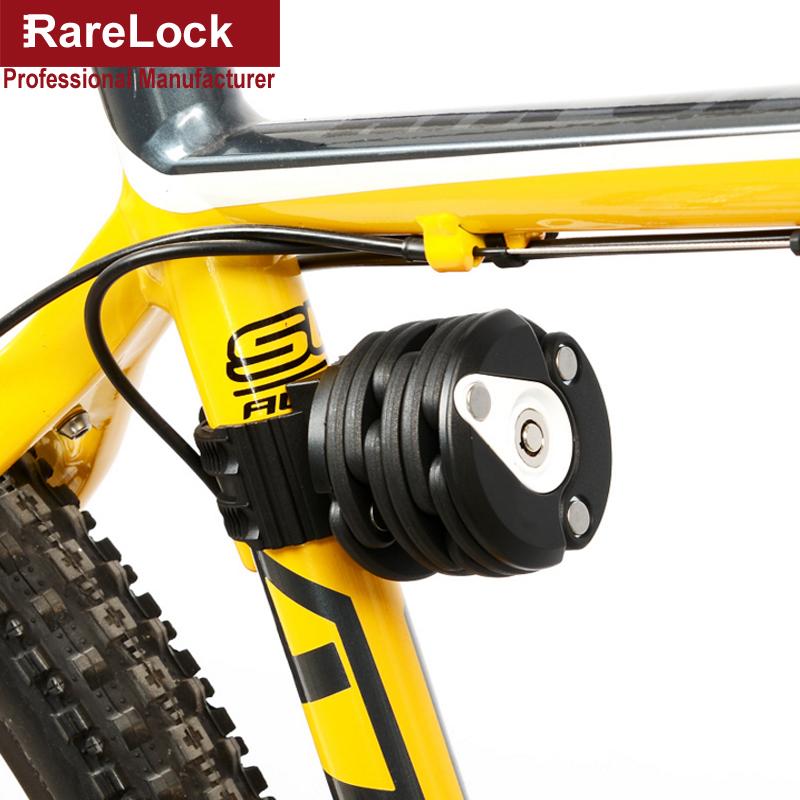 Rarelock MMS440 4 Colors Hamburger Folding Bicycle Motorcycle Lock for Outdoor Travel Sport Vehicle Car Accessory Hardware(China (Mainland))