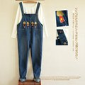 Maternity Bib Pants Fashion Denim Spring Autumn Pregnant Women Loose Denim Clothing Trousers Belly Jeans Pants