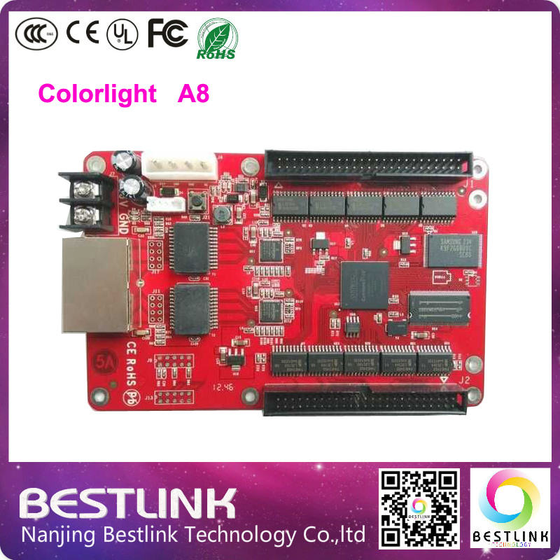 Asynchronous controller card Colorlight A8 LED Full color RGB Control card 256*256 Pixel for p10 p16 outdoor led display screen(China (Mainland))