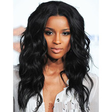 Wholesale 2016 New 20″ Afro Long Curly Black Wig African American Wig For Black Women Synthetic Natural Black Ciara Wig
