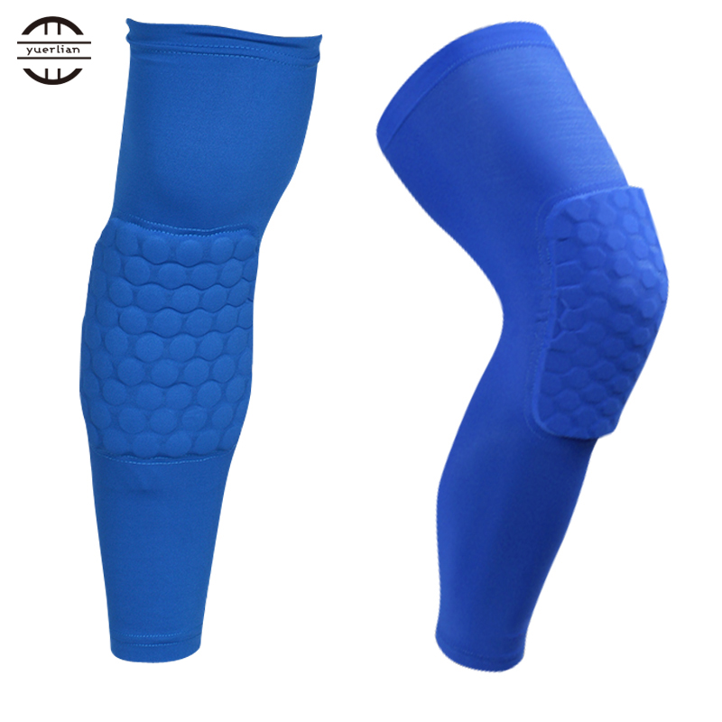 A Pair Colorful Basketball knee pads Football brace support Leg Sleeve knee Protector Compression knee Protection Sport Safety(China (Mainland))