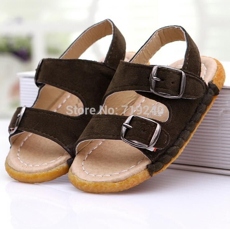 2015 the new boy's sandals summer Beef tendon end child soft leather sandals shoes The boy's fashion sandals on sale(China (Mainland))