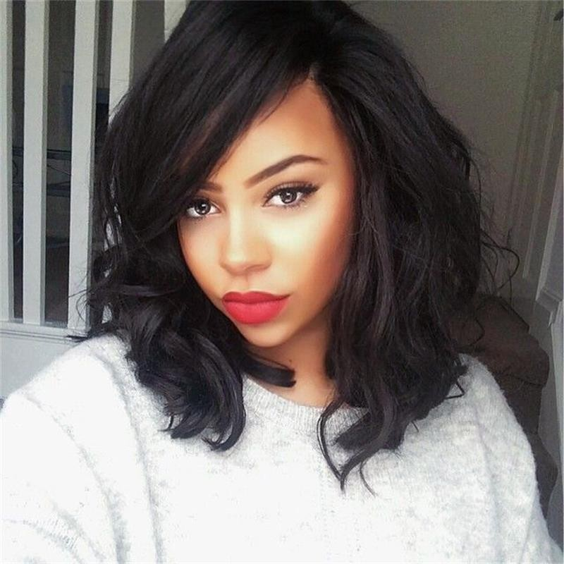 Brazilian virgin human hair wigs ,glueless full lace wig for black women &amp;glueless lace front human hair wigs,human hair bob wig<br><br>Aliexpress