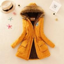 2016 Winter Jacket Women New Winter Womens Parka Casual Outwear Military Hooded Coat Fur women Coat