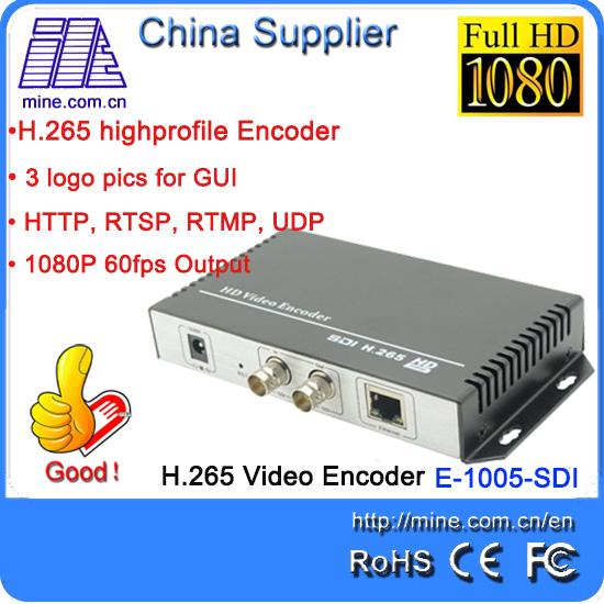 Mine E-1005-SDI H.265 Encoder HD SD SDI Video Encoder for IPTV, Live Stream Broadcast by RTMP HTTP RTSP for Media Server(China (Mainland))