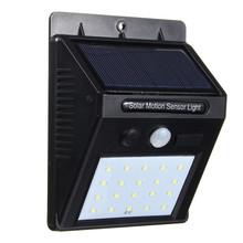 Buy Solar Power SMD 2835 Waterproof 20 LED Solar Light Outdoor LED Garden Light PIR Motion Sensor Pathway Wall Lamp for $10.35 in AliExpress store