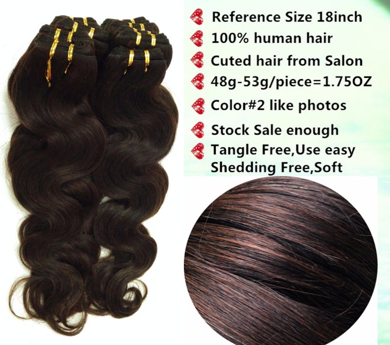 20PCS cheap hair wholesale Brazilian human chocolate mocha brown body wave natural wavy hair weave extension,1kg free shipping