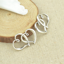 Buy 10 pcs 31*24 mm Antique Tibetan Silver Charms Bracelet Necklace Pendant New Fashion Alloy charm heart 2340 for $1.38 in AliExpress store