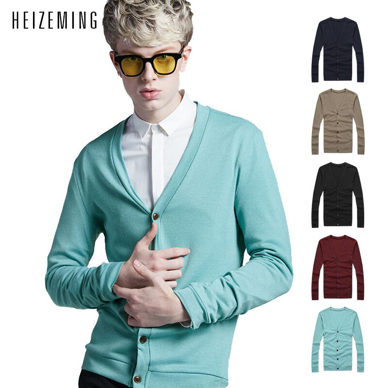 2016 Limited No V-neck Color 5.free Shipping!2016 Autumn Spring New Mens Cardigan Sweaters Casual Coat Knitwear Men Clothing(China (Mainland))