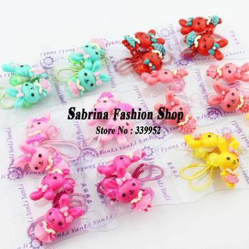 All products $1.99 2pairs/lot Wholesale Rabbit shape elastic ties Hot-selling hair accessories New arrival ponytail holder