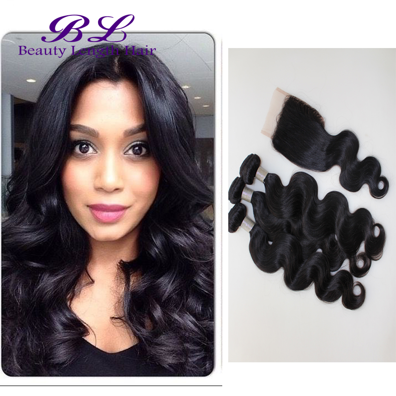 Peruvian Virgin Hair Body Wave With Closure Queen Hair Products With Closure Bundles Peruvian Body Wave Weft With Lace Closure